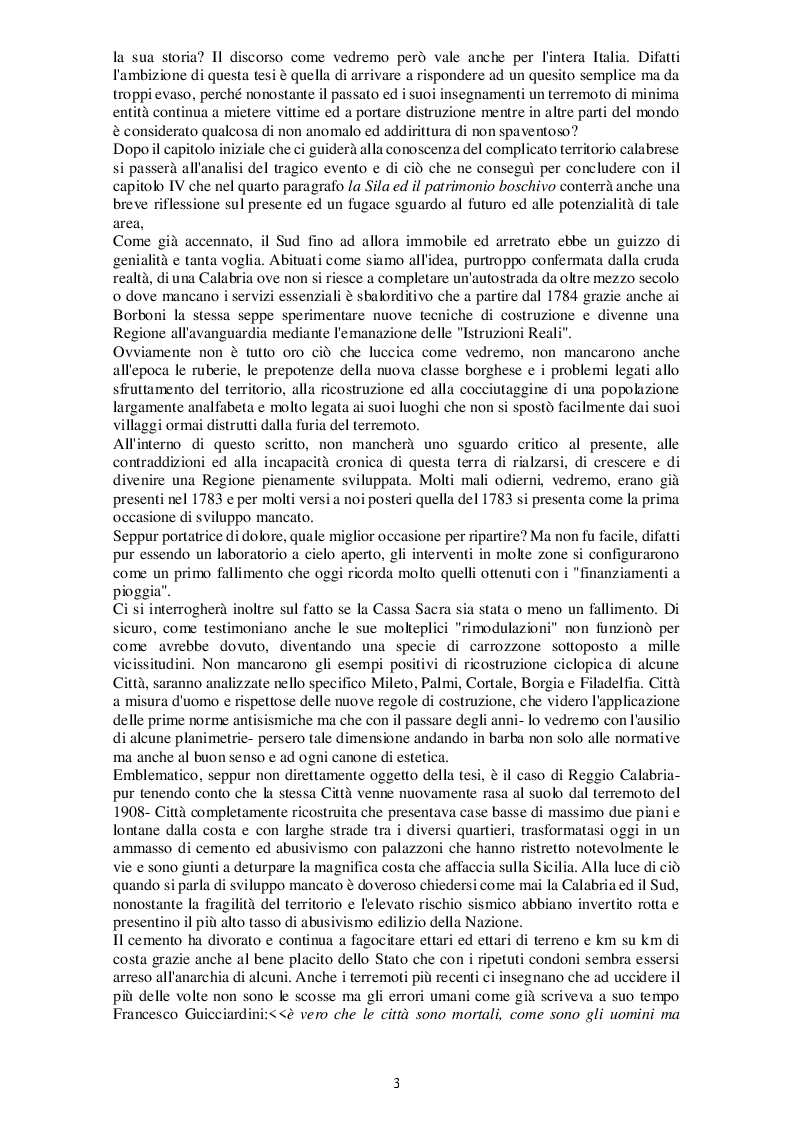 Anteprima della tesi: Il terremoto in Calabria del 1783. Dalla Catastrofe alla ricostruzione, Pagina 4