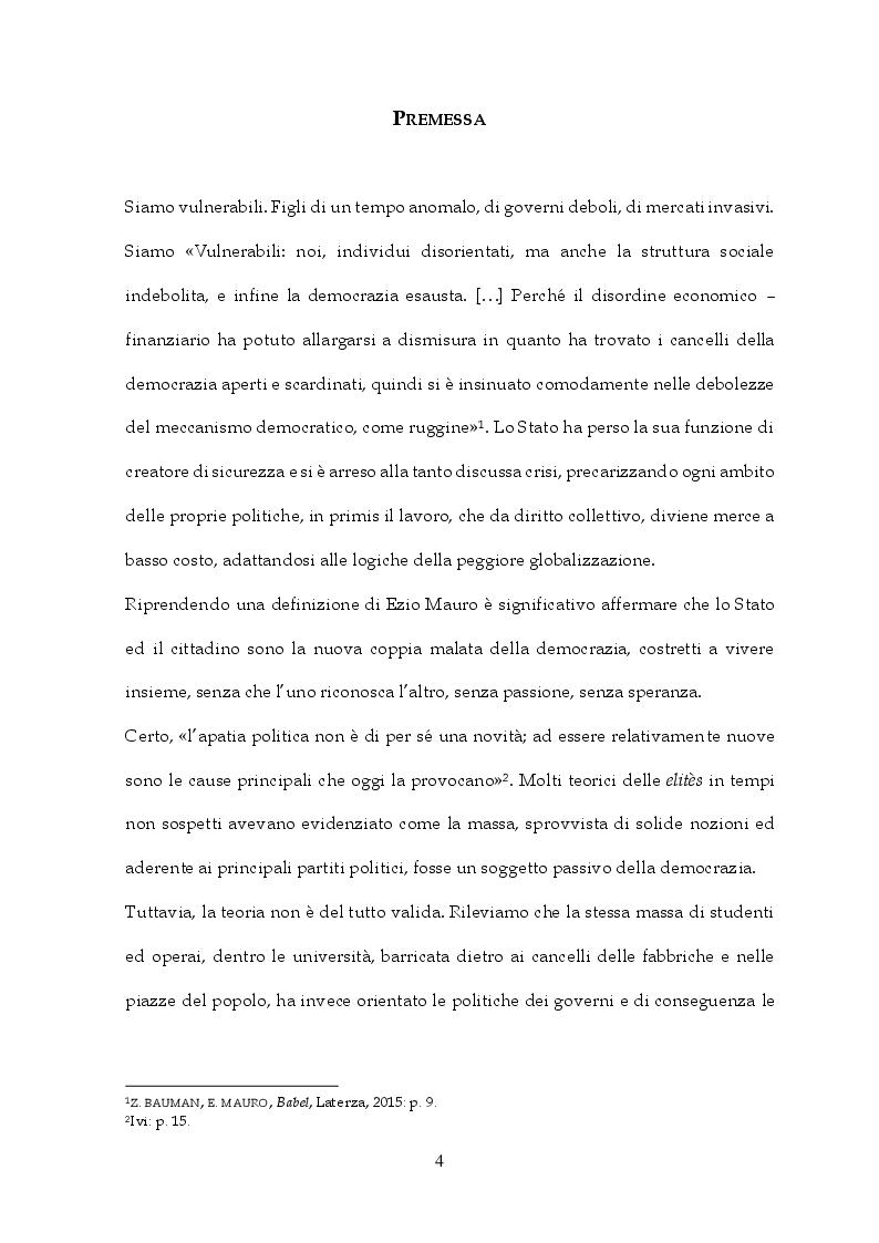 Anteprima della tesi: Tra Italia ed Europa: riforme del mercato del lavoro e governo della precarietà, Pagina 2