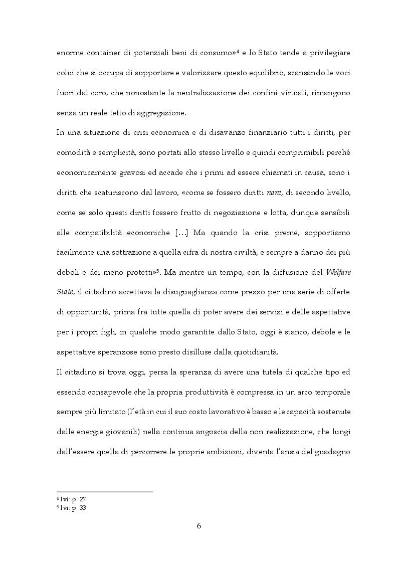 Anteprima della tesi: Tra Italia ed Europa: riforme del mercato del lavoro e governo della precarietà, Pagina 4