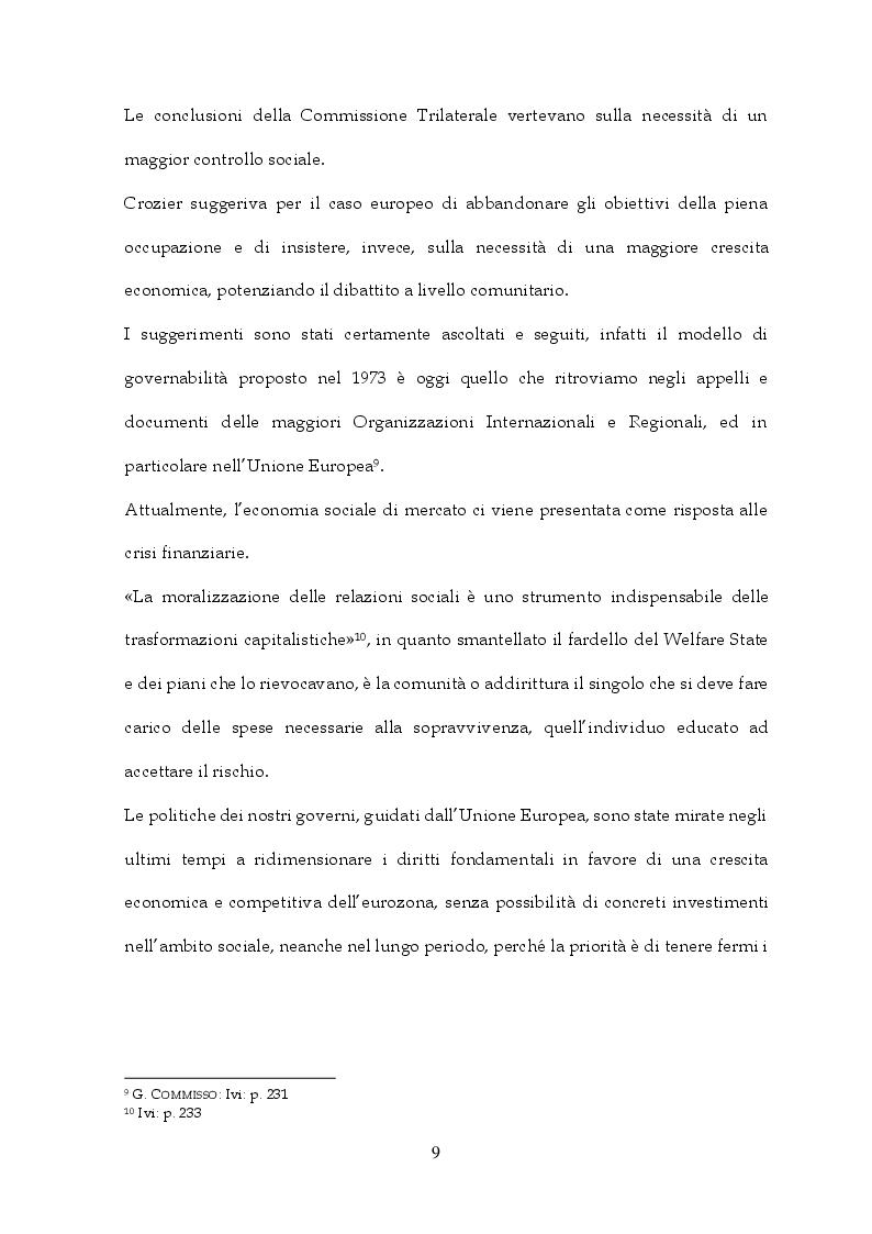 Anteprima della tesi: Tra Italia ed Europa: riforme del mercato del lavoro e governo della precarietà, Pagina 7