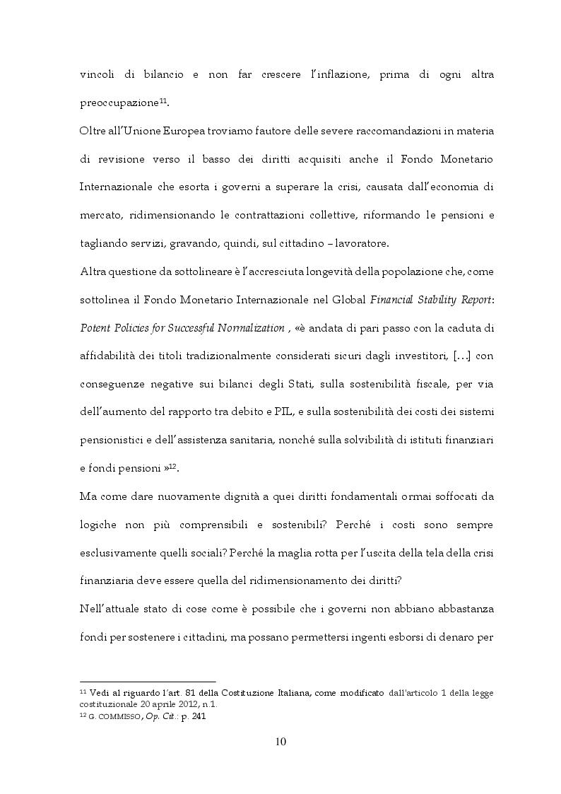 Anteprima della tesi: Tra Italia ed Europa: riforme del mercato del lavoro e governo della precarietà, Pagina 8