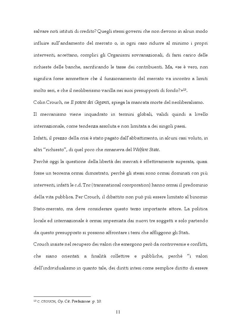 Anteprima della tesi: Tra Italia ed Europa: riforme del mercato del lavoro e governo della precarietà, Pagina 9
