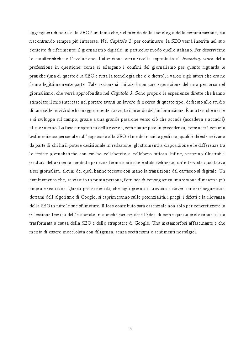 Anteprima della tesi: Il cambiamento come consuetudine: analisi dell'impatto della SEO e del monopolio di Google sul giornalismo digitale italiano, Pagina 3