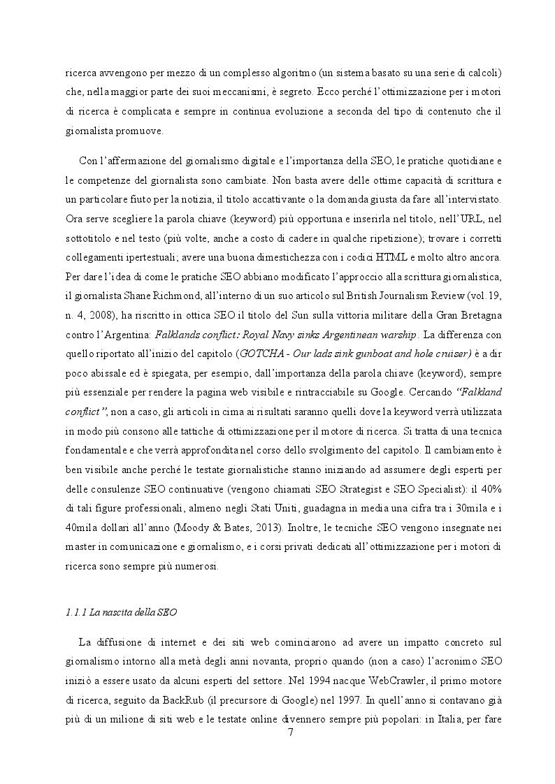 Anteprima della tesi: Il cambiamento come consuetudine: analisi dell'impatto della SEO e del monopolio di Google sul giornalismo digitale italiano, Pagina 5