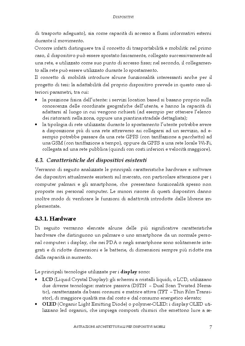 Anteprima della tesi: Astrazioni architetturali per dispositivi mobili, Pagina 3
