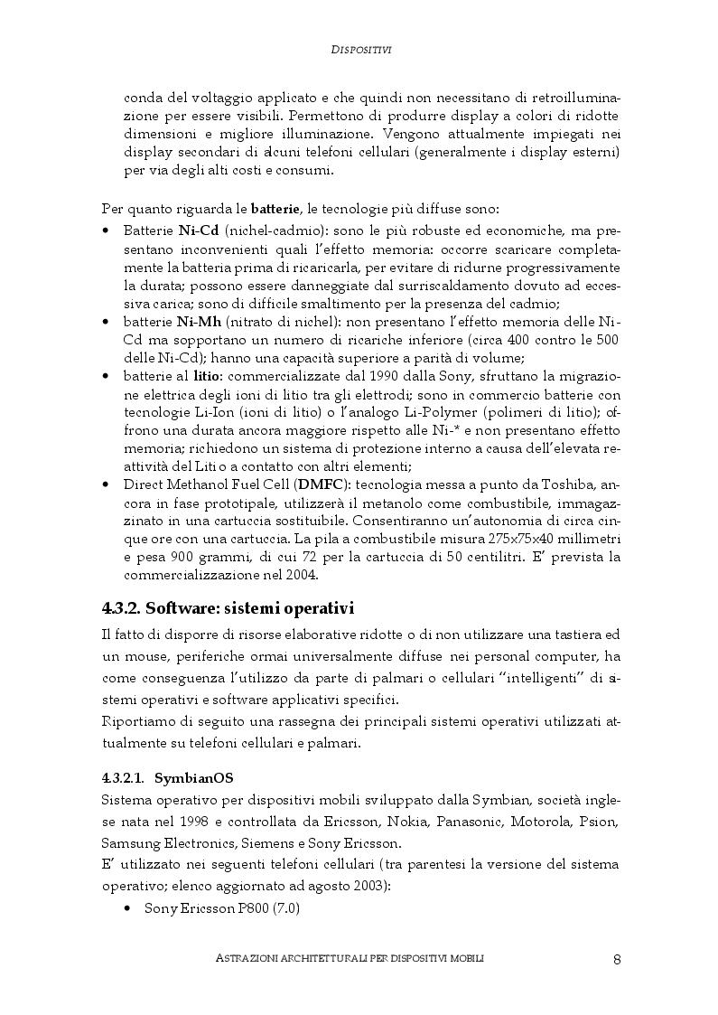 Anteprima della tesi: Astrazioni architetturali per dispositivi mobili, Pagina 4