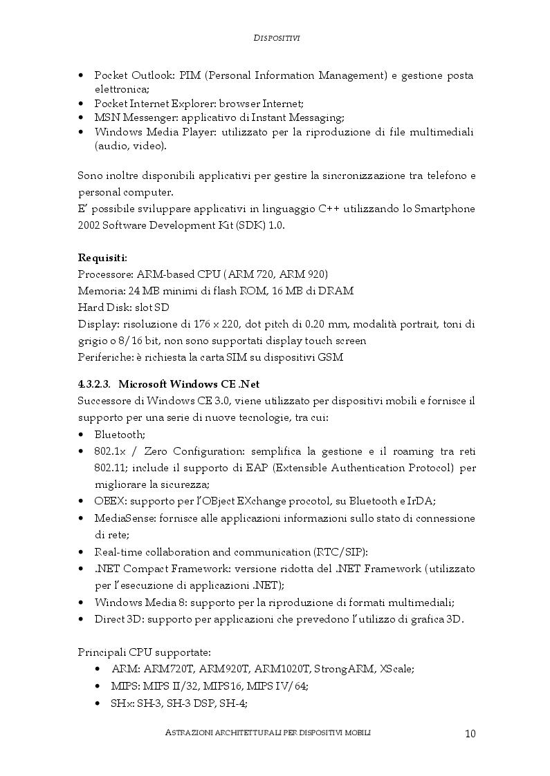 Anteprima della tesi: Astrazioni architetturali per dispositivi mobili, Pagina 6