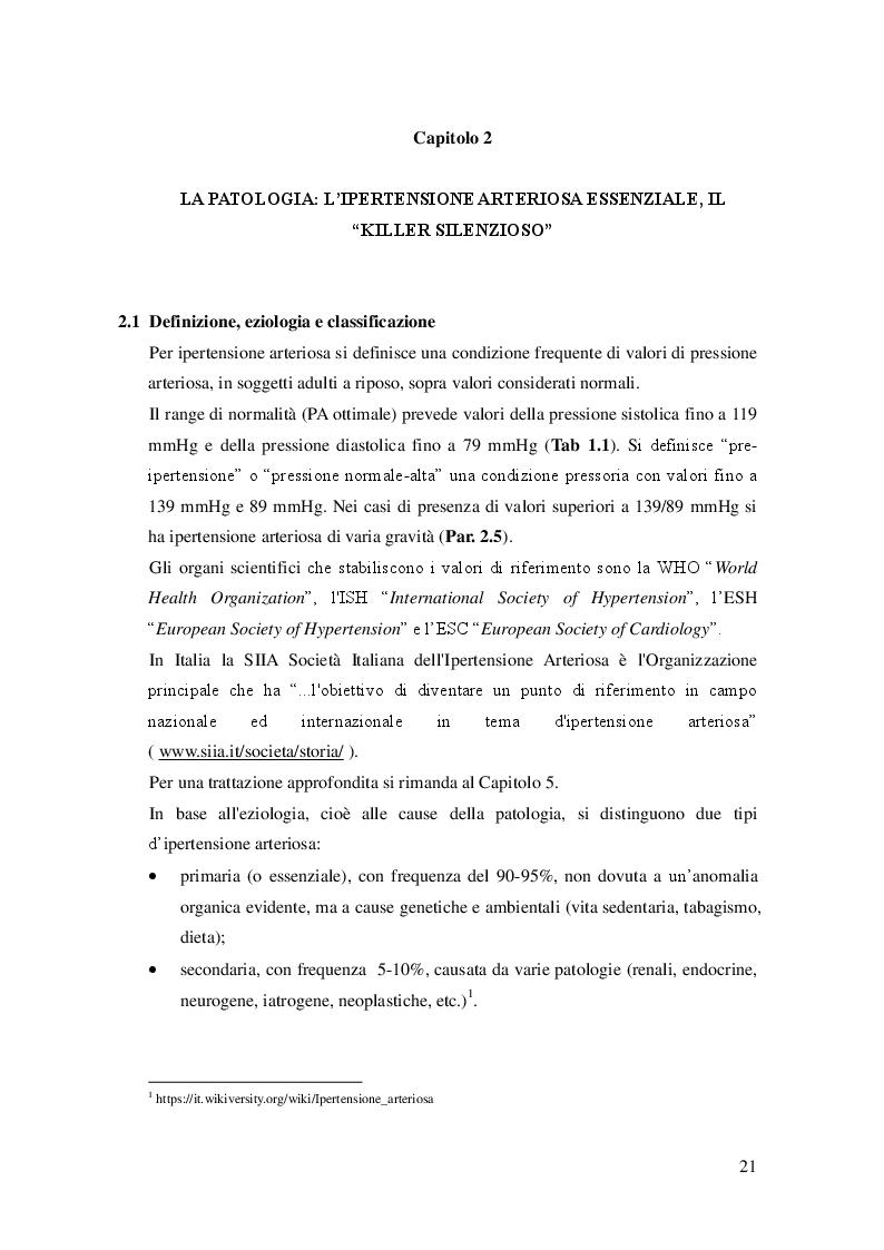 Anteprima della tesi: L'attività fisica come prevenzione primaria dell'ipertensione arteriosa essenziale, Pagina 2