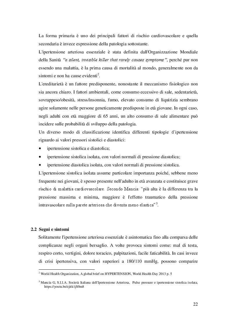 Anteprima della tesi: L'attività fisica come prevenzione primaria dell'ipertensione arteriosa essenziale, Pagina 3