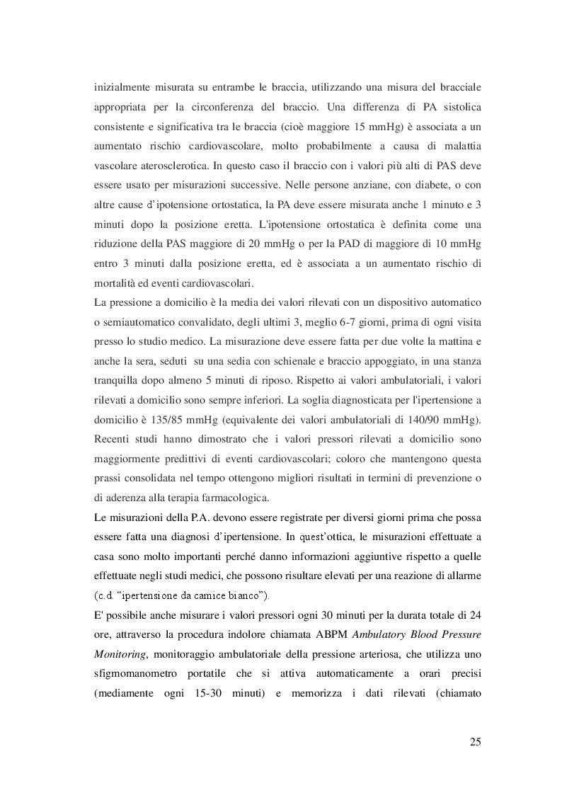 Anteprima della tesi: L'attività fisica come prevenzione primaria dell'ipertensione arteriosa essenziale, Pagina 6