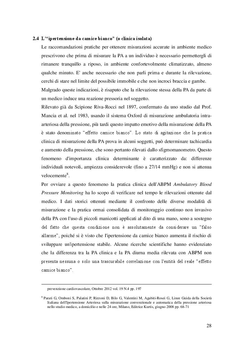 Anteprima della tesi: L'attività fisica come prevenzione primaria dell'ipertensione arteriosa essenziale, Pagina 9