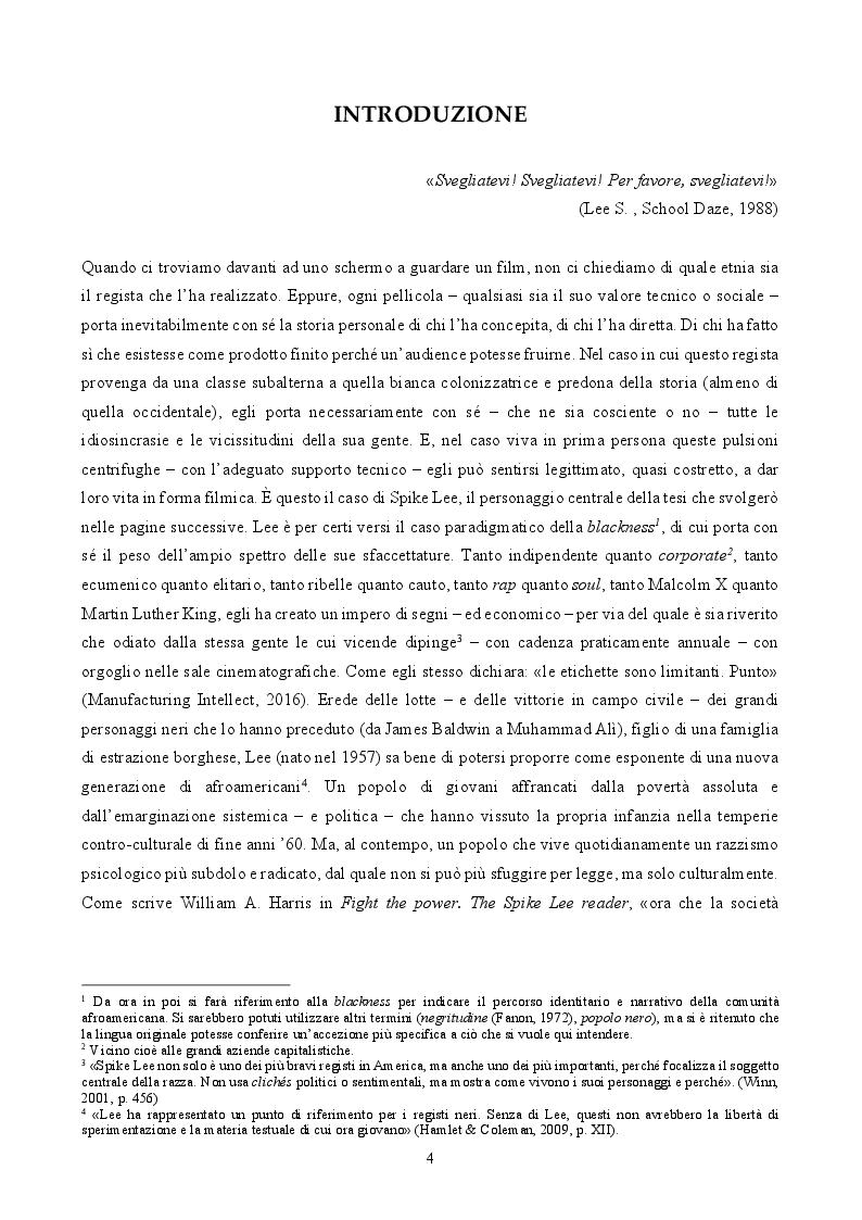 Anteprima della tesi: ''By Any Means Necessary'': La narrazione della Blackness in Spike Lee, Pagina 2