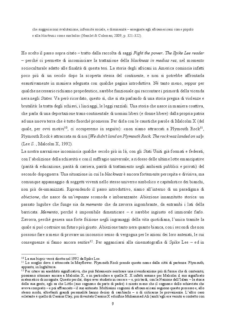 Anteprima della tesi: ''By Any Means Necessary'': La narrazione della Blackness in Spike Lee, Pagina 7