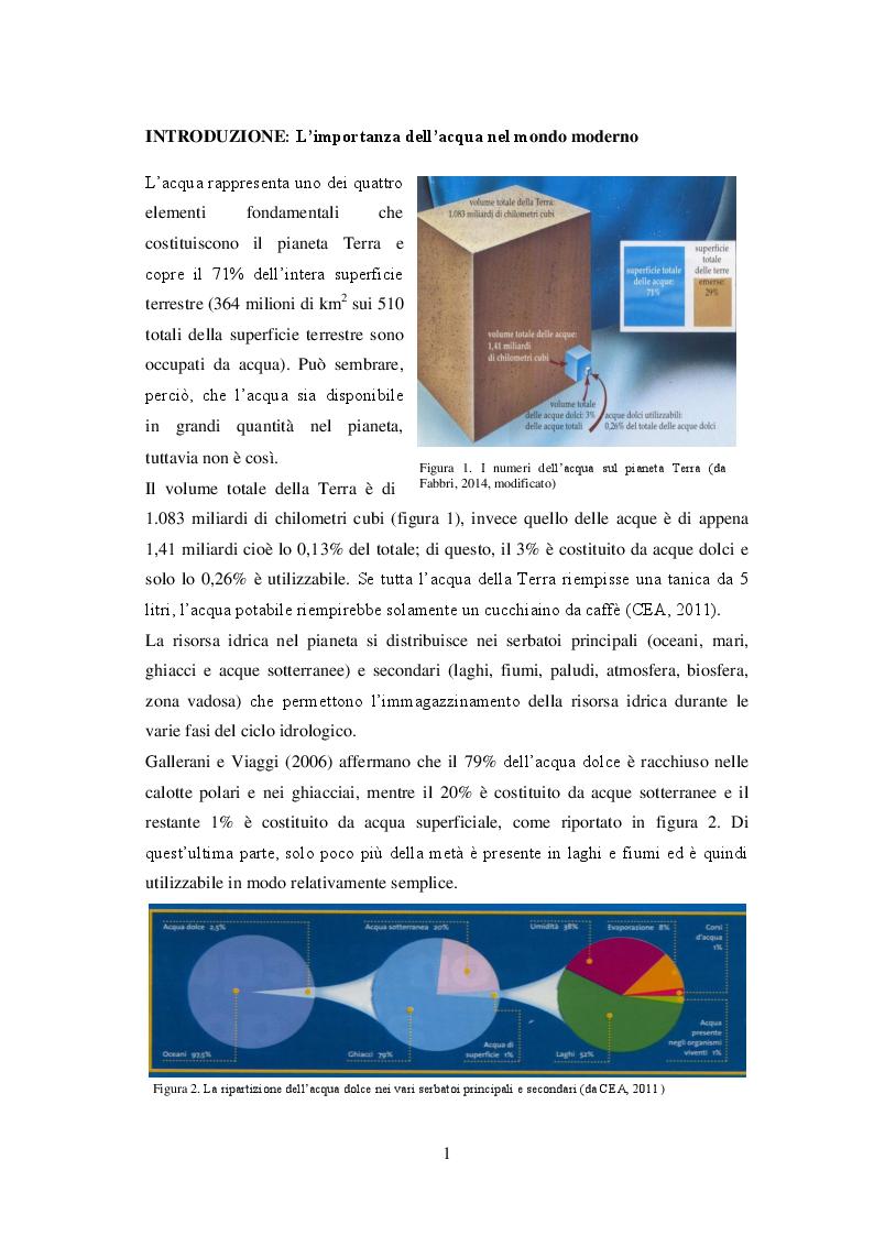 Anteprima della tesi: Sistemi di irrigazione in pieno campo: l'utilizzo efficiente e sostenibile della risorsa idrica per un miglioramento dei possibili scenari futuri, Pagina 2