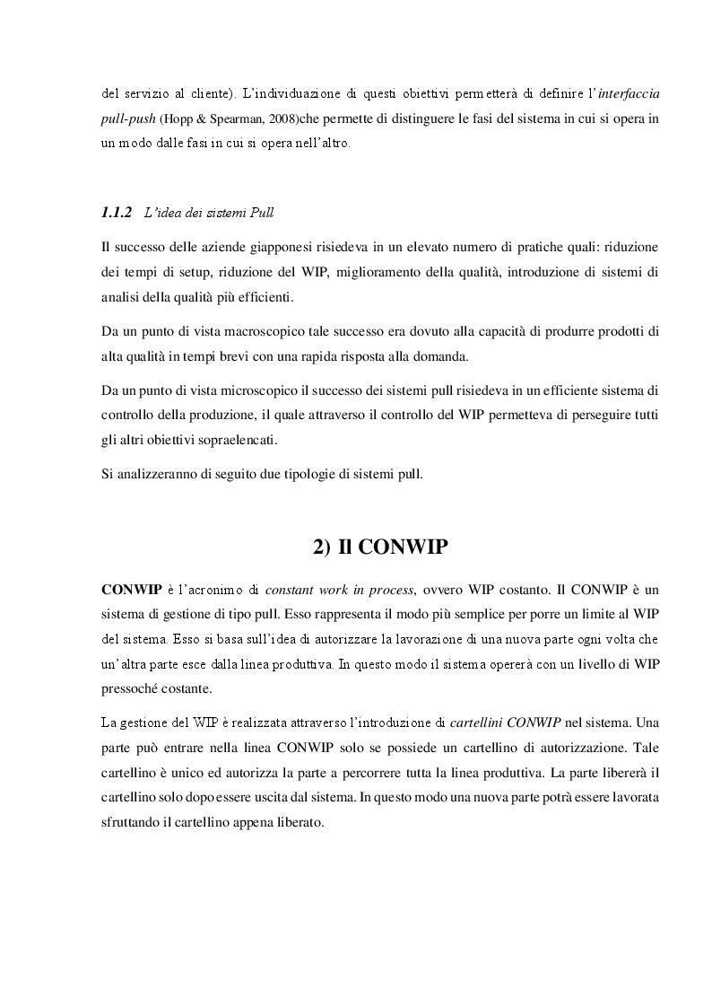 Anteprima della tesi: Sistemi produttivi a flusso con controllo del work in process, Pagina 3