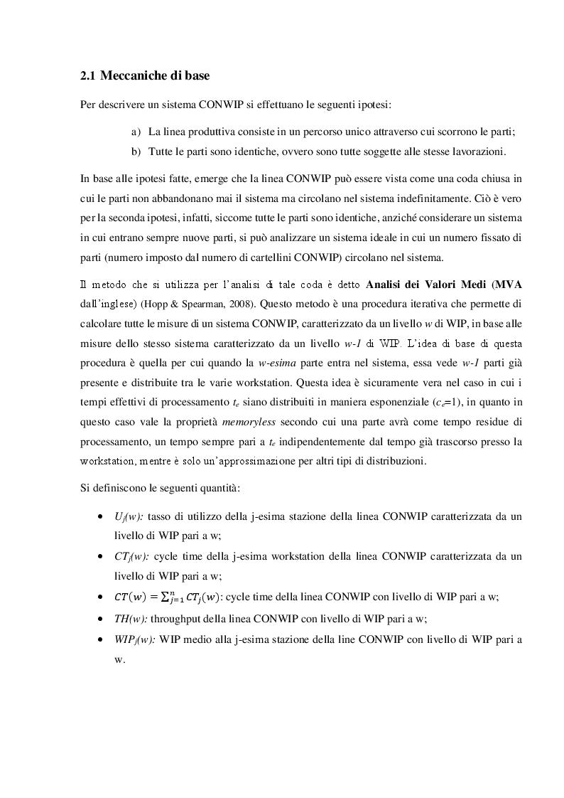 Anteprima della tesi: Sistemi produttivi a flusso con controllo del work in process, Pagina 4