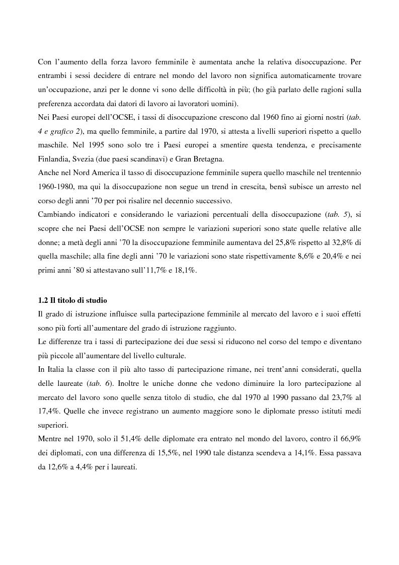 Anteprima della tesi: L'evoluzione del lavoro femminile e il ruolo delle iniziative di pari opportunità, Pagina 11