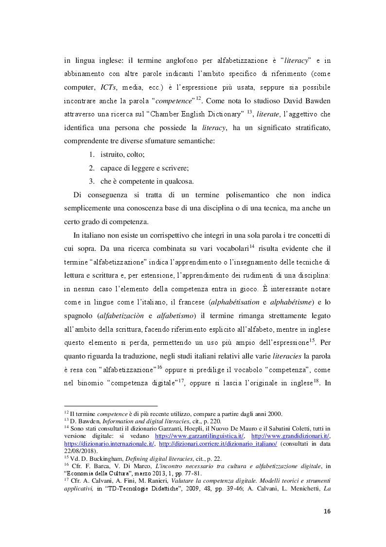 Estratto dalla tesi: Giornalisti e lettori integrati: nuove alfabetizzazioni e sfide dell'informazione