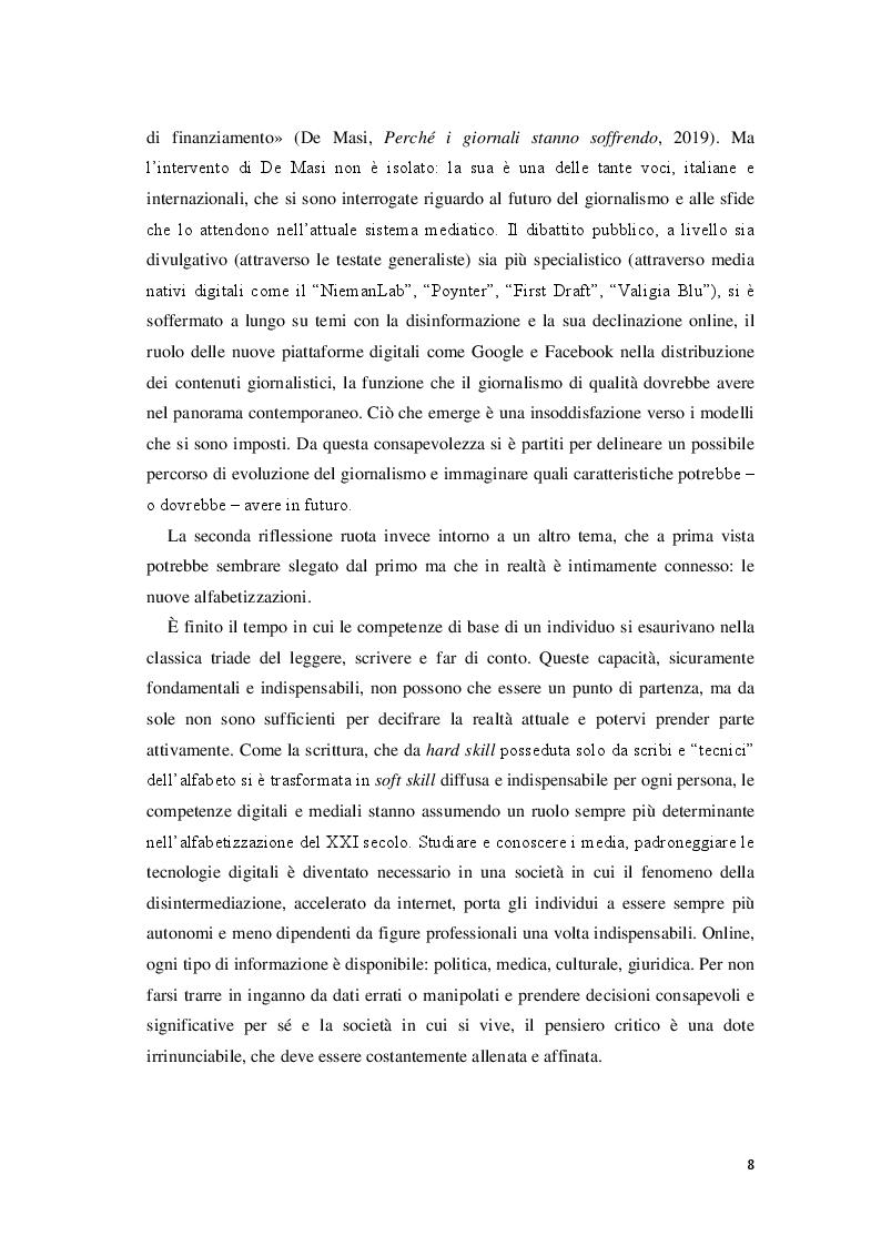 Anteprima della tesi: Giornalisti e lettori integrati: nuove alfabetizzazioni e sfide dell'informazione, Pagina 4