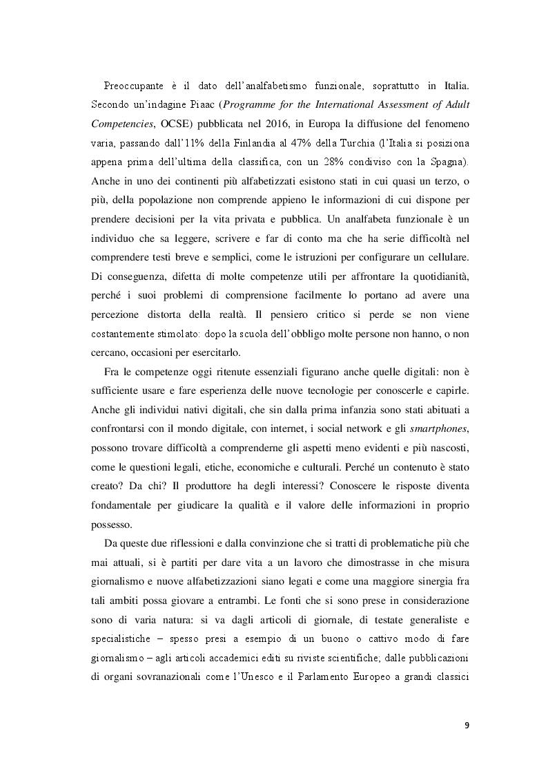 Anteprima della tesi: Giornalisti e lettori integrati: nuove alfabetizzazioni e sfide dell'informazione, Pagina 5