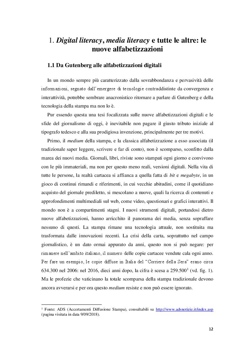 Anteprima della tesi: Giornalisti e lettori integrati: nuove alfabetizzazioni e sfide dell'informazione, Pagina 8