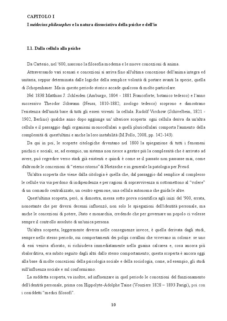 Anteprima della tesi: L'arcipelago delle coscienze. Dissociazione in psicologia filosofica, Pagina 4