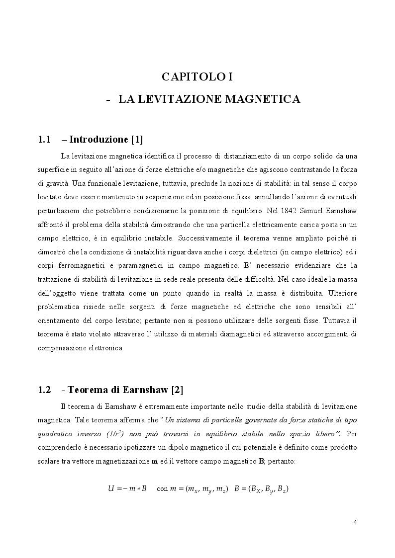 Anteprima della tesi: Cuscinetti magnetici: tipologie ed applicazioni, Pagina 2