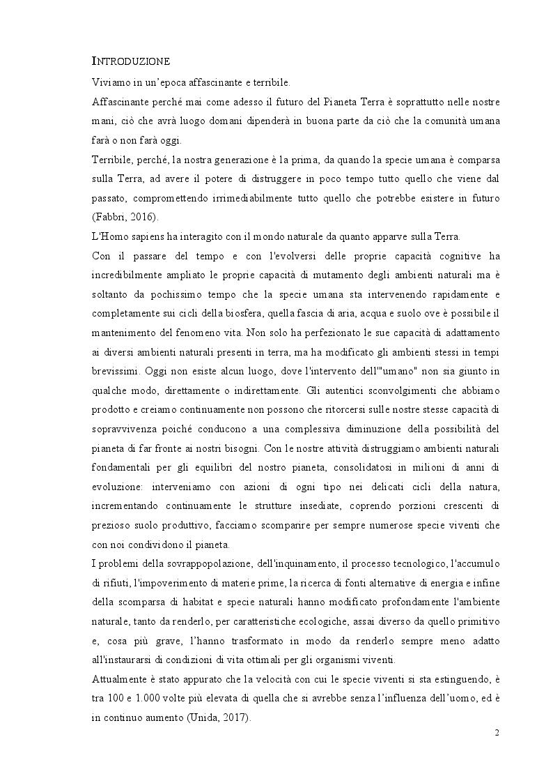 Anteprima della tesi: Verso la sesta estinzione di massa: ipotesi o realtà?, Pagina 2