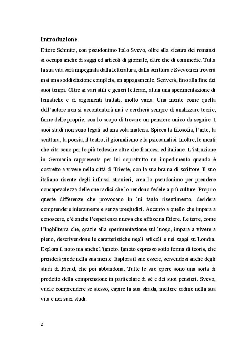 Anteprima della tesi: Svevo-Schimtz Saggista, Pagina 2