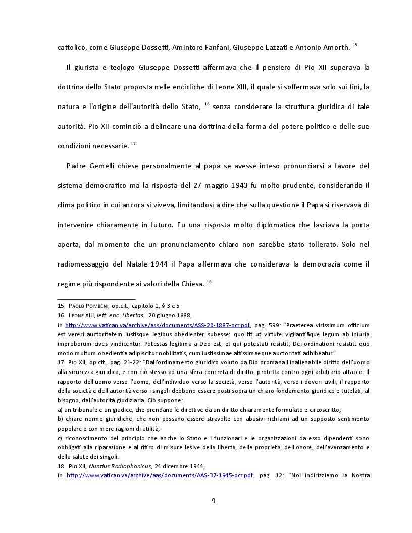 Estratto dalla tesi: Presenza e contributo dei cattolici alla nascita della Costituzione italiana