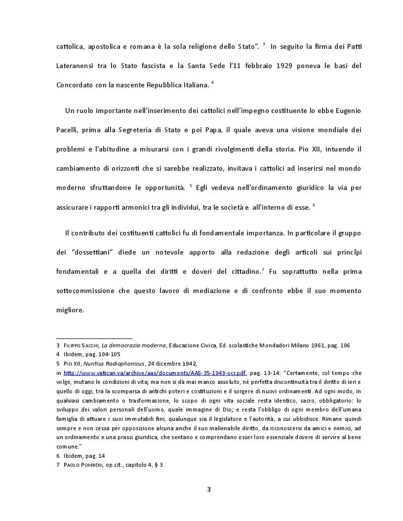 Anteprima della tesi: Presenza e contributo dei cattolici alla nascita della Costituzione italiana, Pagina 4
