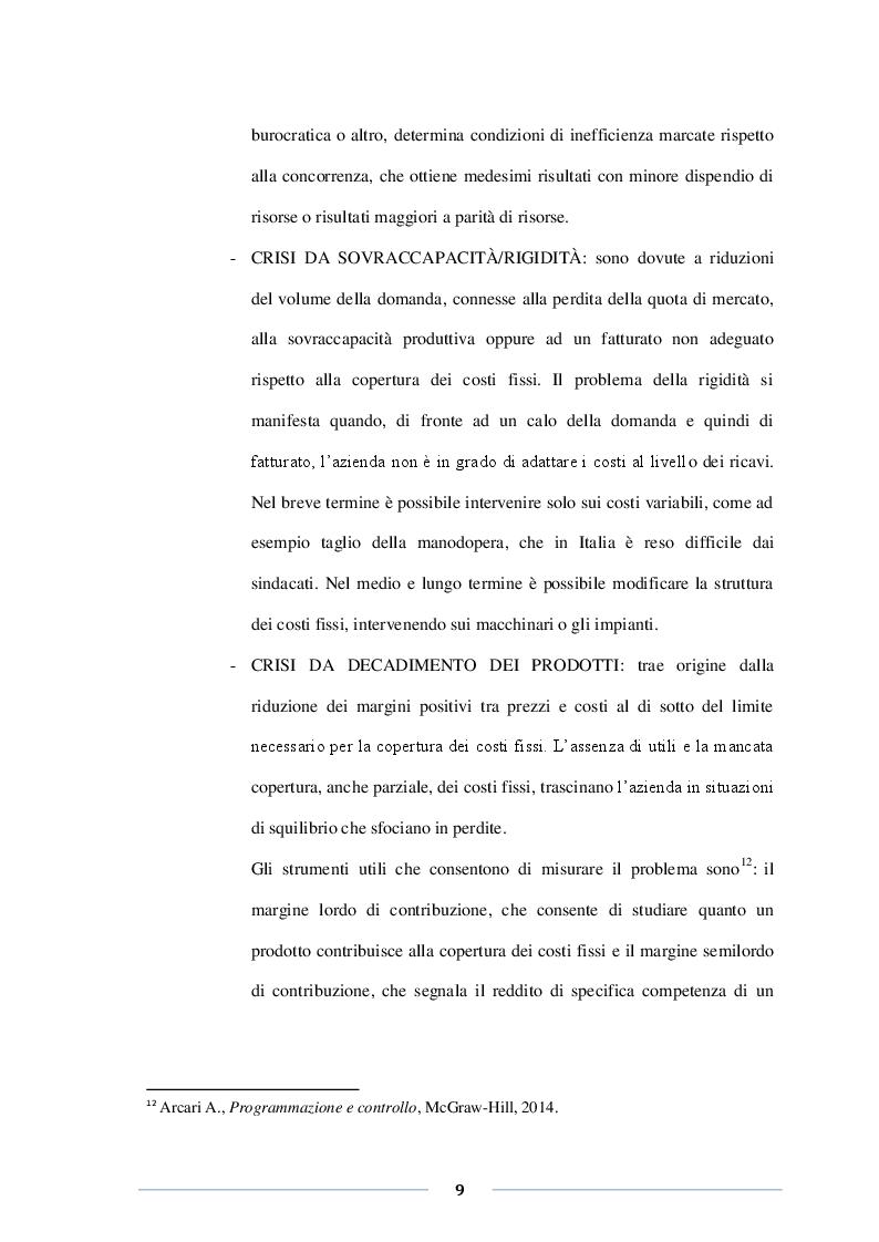 Anteprima della tesi: Misure di allerta e prevenzione della crisi. Le novità della riforma del fallimento, Pagina 6