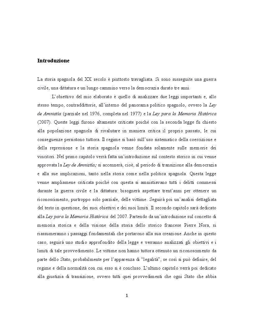Anteprima della tesi: La giustizia di transizione: amnistia e memoria storica nella Spagna contemporanea, Pagina 2
