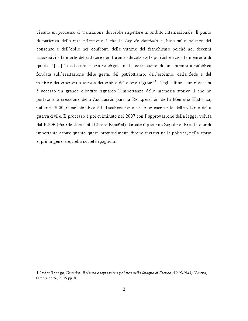 Anteprima della tesi: La giustizia di transizione: amnistia e memoria storica nella Spagna contemporanea, Pagina 3
