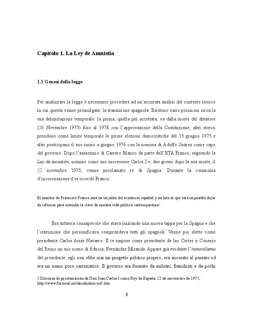 Anteprima della tesi: La giustizia di transizione: amnistia e memoria storica nella Spagna contemporanea, Pagina 4