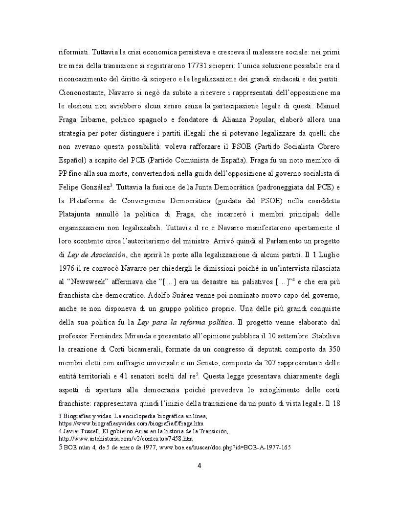 Anteprima della tesi: La giustizia di transizione: amnistia e memoria storica nella Spagna contemporanea, Pagina 5