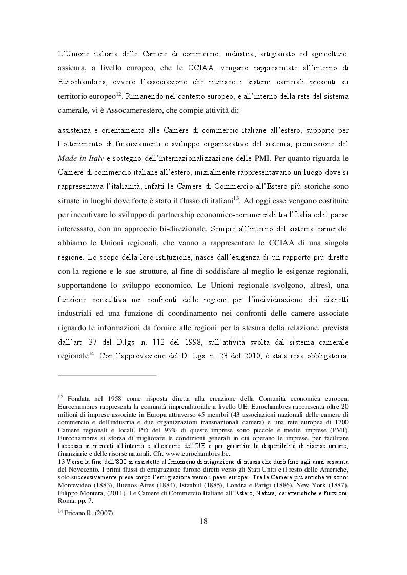 Estratto dalla tesi: Ruolo delle Camere di Commercio nell'internazionalizzazione delle imprese agroalimentari