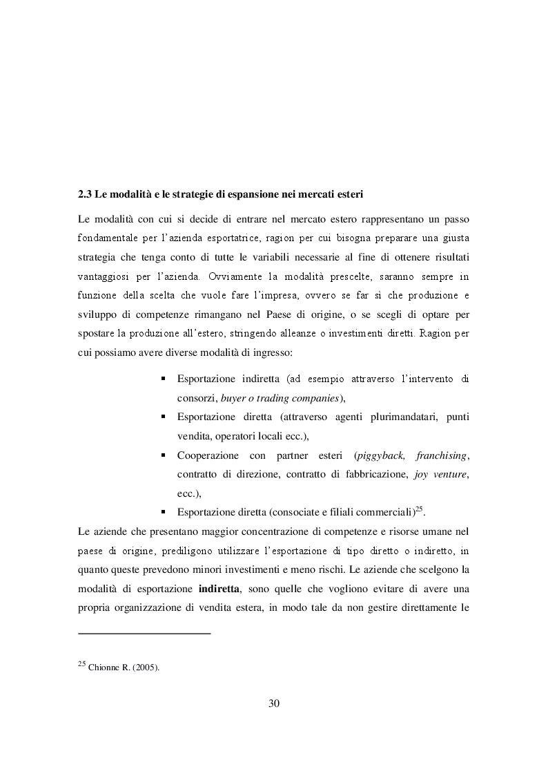 Anteprima della tesi: Ruolo delle Camere di Commercio nell'internazionalizzazione delle imprese agroalimentari, Pagina 2