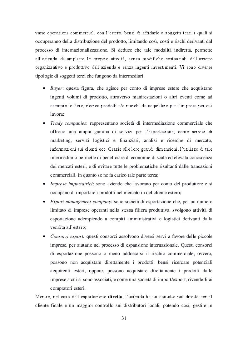 Anteprima della tesi: Ruolo delle Camere di Commercio nell'internazionalizzazione delle imprese agroalimentari, Pagina 3