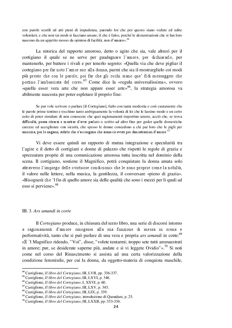Anteprima della tesi: Intorno al terzo libro del Cortegiano: un discorso sulla donna detto al maschile, Pagina 5