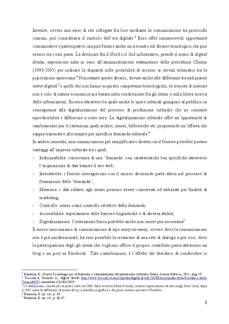 Anteprima della tesi: Storytelling digitale e nuove forme di fruizione per il Museo 4.0, Pagina 5