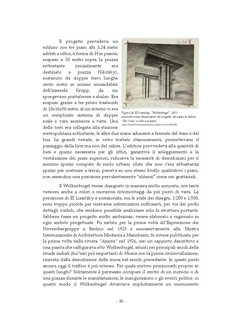 Anteprima della tesi: Analisi e rappresentazione del grattacielo orizzontale: El Lissitzky e il progetto del Wolkenbugel a Mosca (1923-1925), Pagina 4