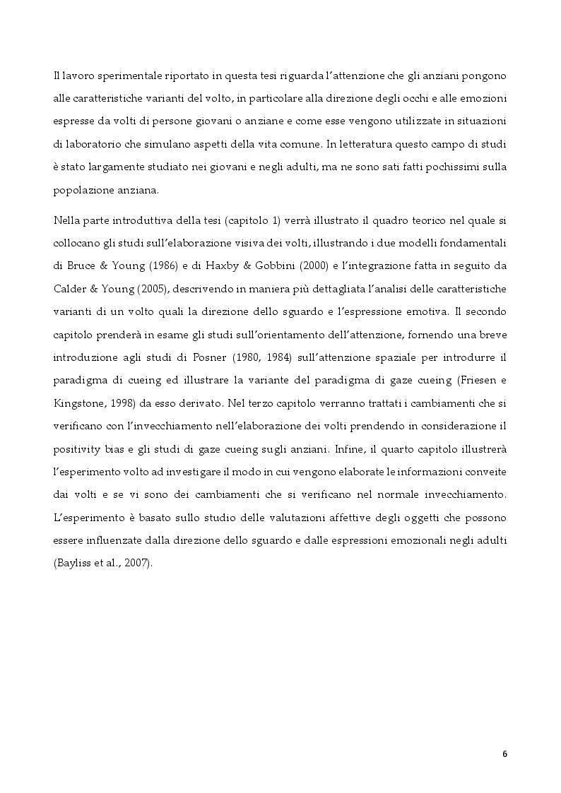 Anteprima della tesi: L'attenzione per segnali sociali negli anziani, Pagina 3