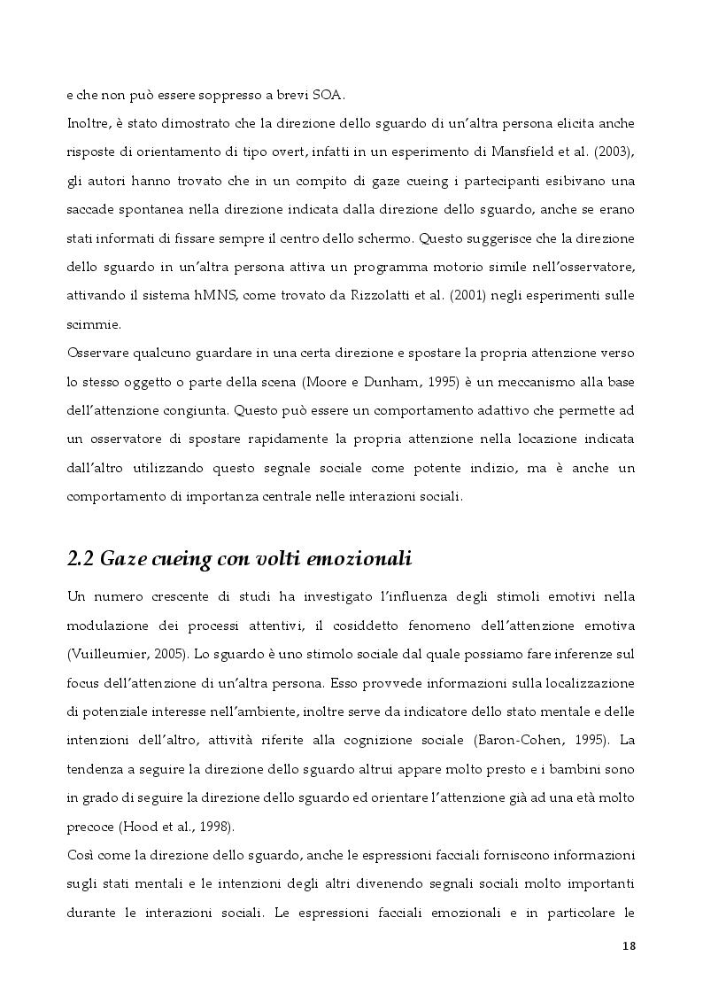 Anteprima della tesi: L'attenzione per segnali sociali negli anziani, Pagina 6
