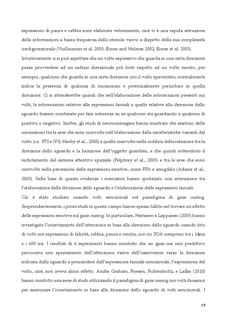 Anteprima della tesi: L'attenzione per segnali sociali negli anziani, Pagina 7