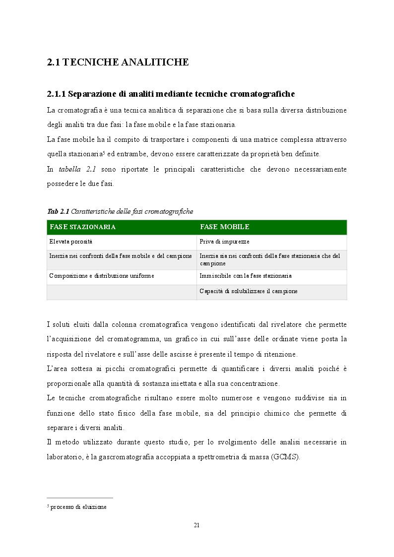 Anteprima della tesi: Sviluppo di metodiche analitiche mediante GCMS per la determinazione di parametri non tabellati del D.lgs. 152/06, Pagina 3
