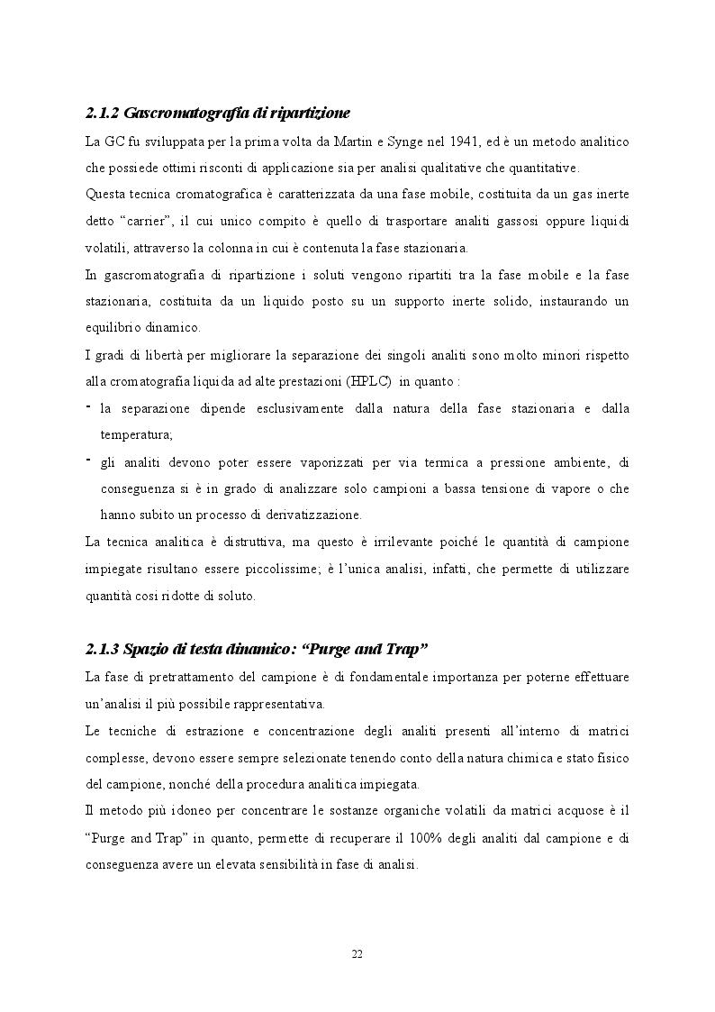 Anteprima della tesi: Sviluppo di metodiche analitiche mediante GCMS per la determinazione di parametri non tabellati del D.lgs. 152/06, Pagina 4