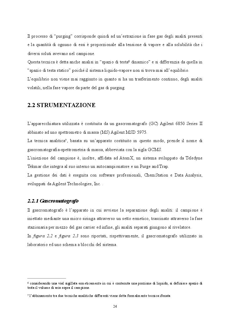 Anteprima della tesi: Sviluppo di metodiche analitiche mediante GCMS per la determinazione di parametri non tabellati del D.lgs. 152/06, Pagina 6