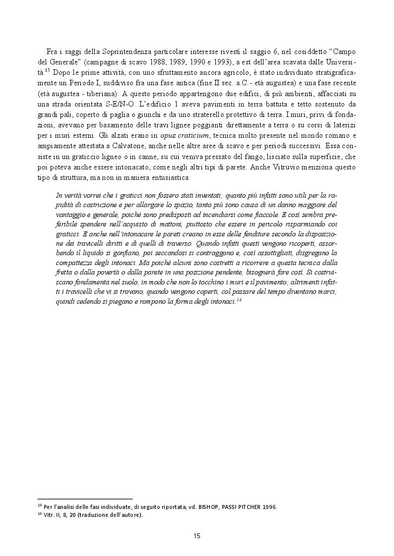 Estratto dalla tesi: Analisi preliminare dei materiali del livello superficiale (US 8185) della campagna di scavo UniMI 2014 a Calvatone-Bedriacum