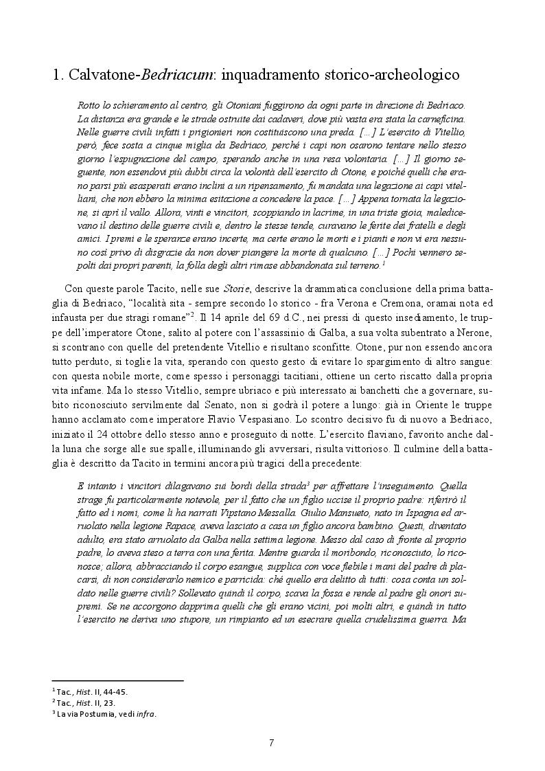 Anteprima della tesi: Analisi preliminare dei materiali del livello superficiale (US 8185) della campagna di scavo UniMI 2014 a Calvatone-Bedriacum, Pagina 4